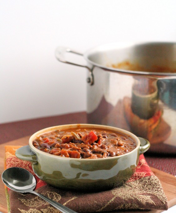 19. Halloween Pumpkin Black Bean Chili