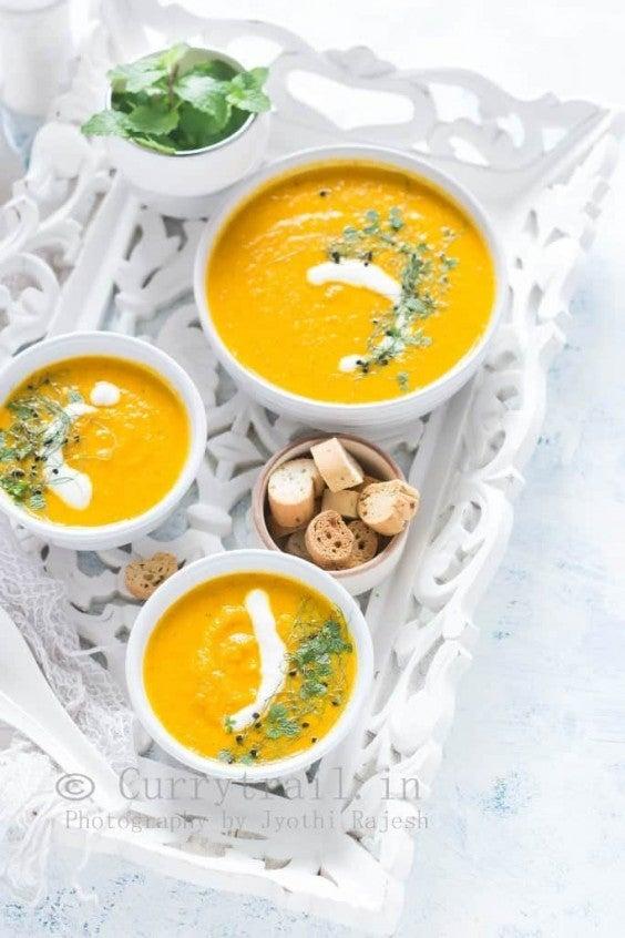 Vegan Roasted Carrot Soup Recipe