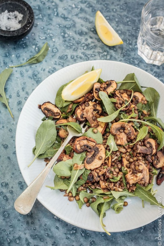 13. Mushroom, Lemon, and Lentil Salad