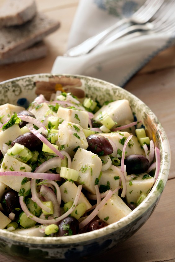 11. Ikarian Taro Root Salad