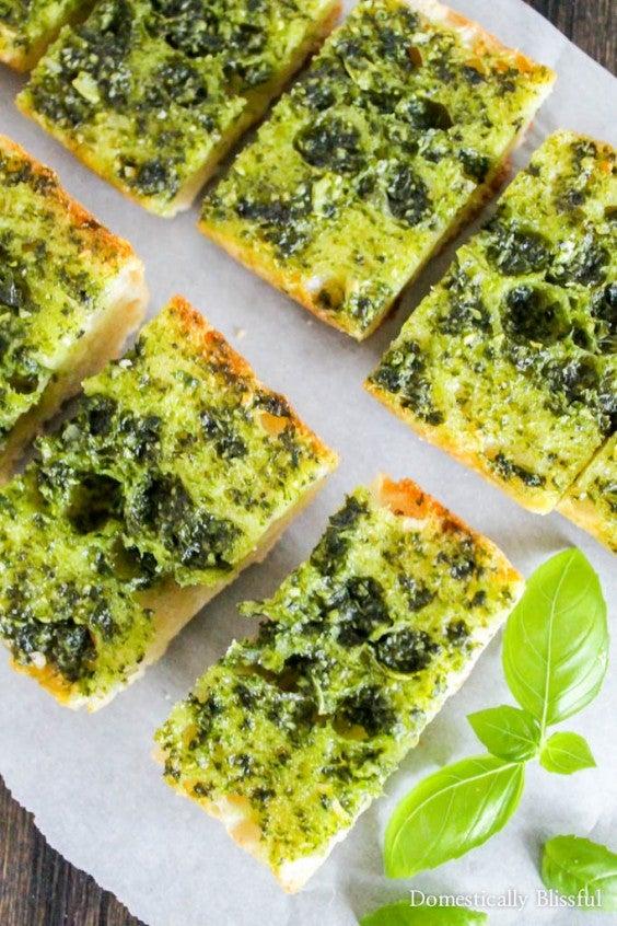 5. Fresh Basil Garlic Bread