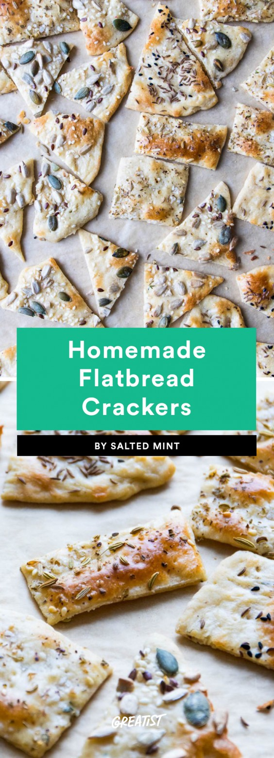 1. Easy Homemade Flatbread Crackers