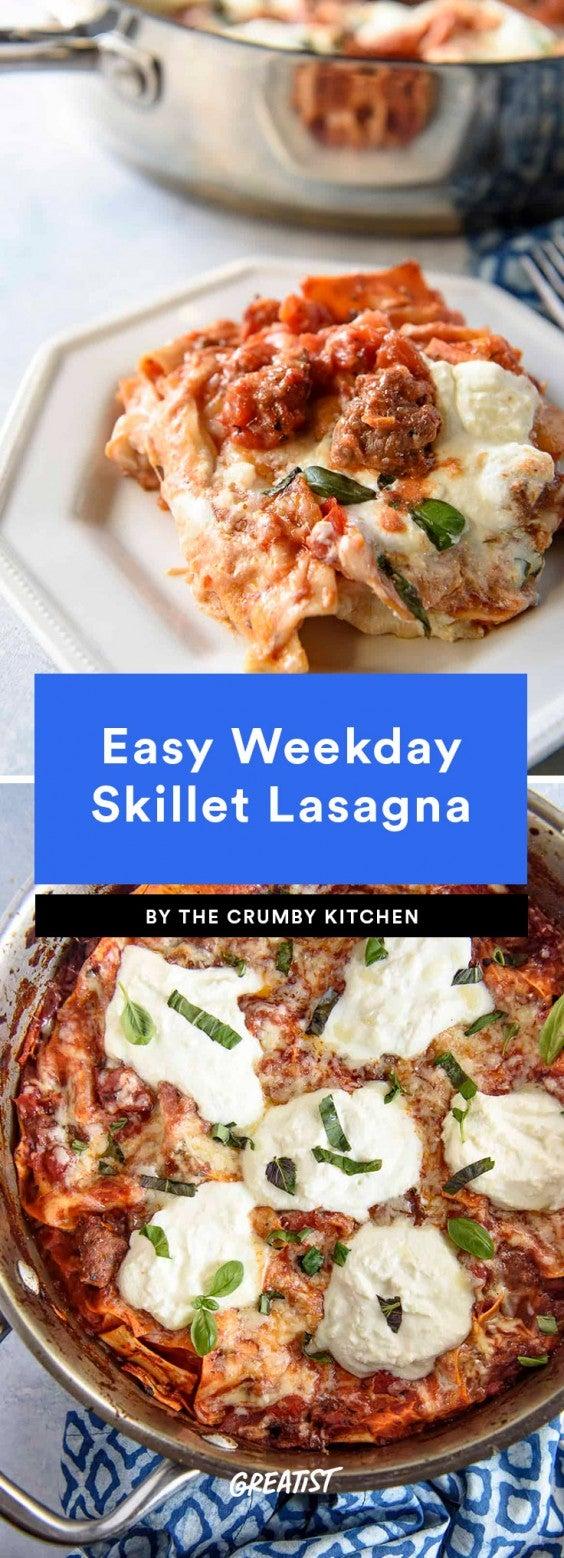Easy Weekday Skillet Lasagna Recipe