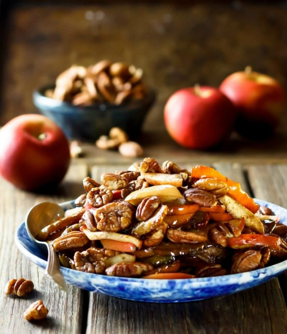 12. Maple Roasted Acorn Squash With Apples and Pecans