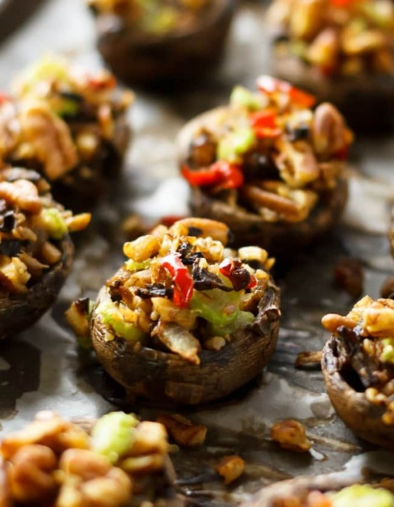 2. Vegan Stuffed Portobello Mushrooms