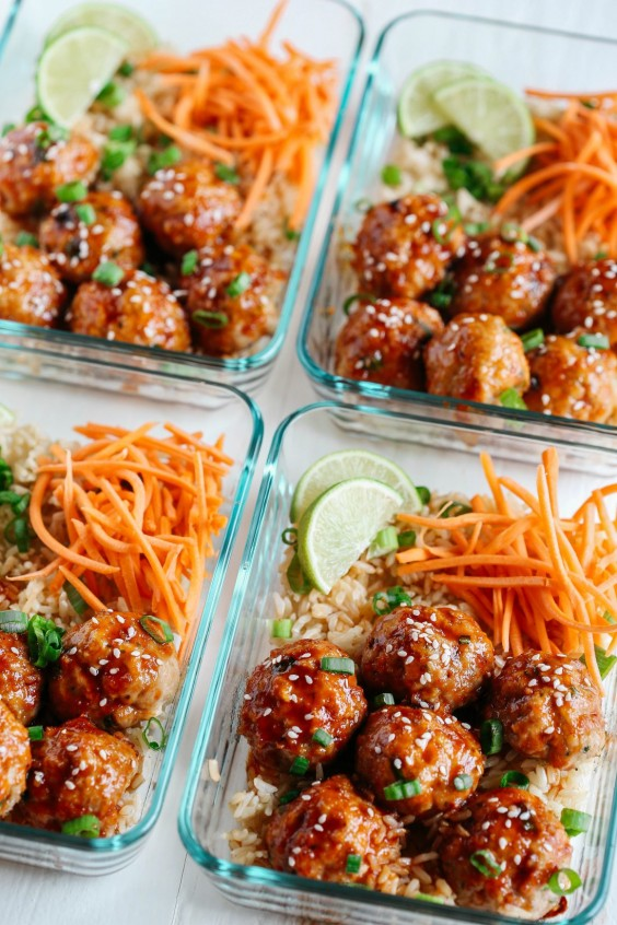 2. Honey Sriracha Glazed Meatballs