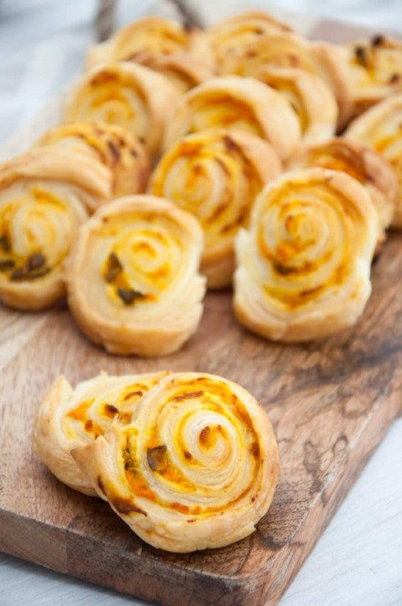 8. Vegan Pumpkin Basil Pinwheels