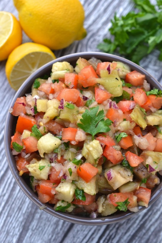 6. Smoky Eggplant and Tomato Salad