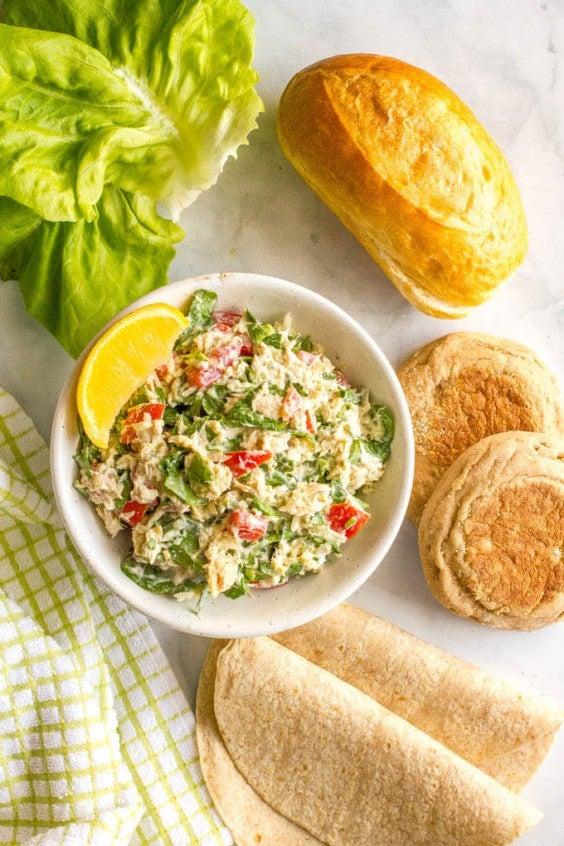 10. Tuna Spinach Salad