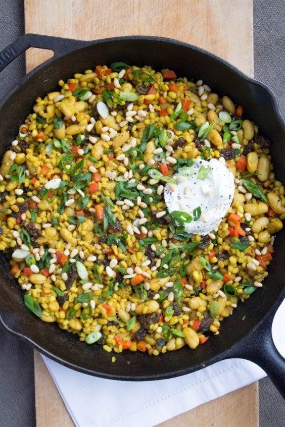 4.Spiced Raisin and Pine Nut Salad