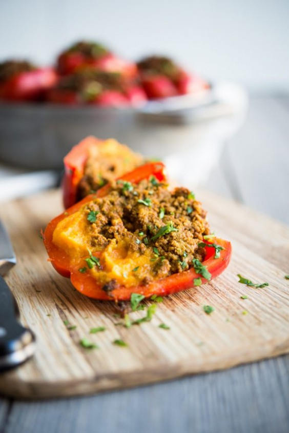 13. Curried Beef and Butternut Squash Stuffed Peppers