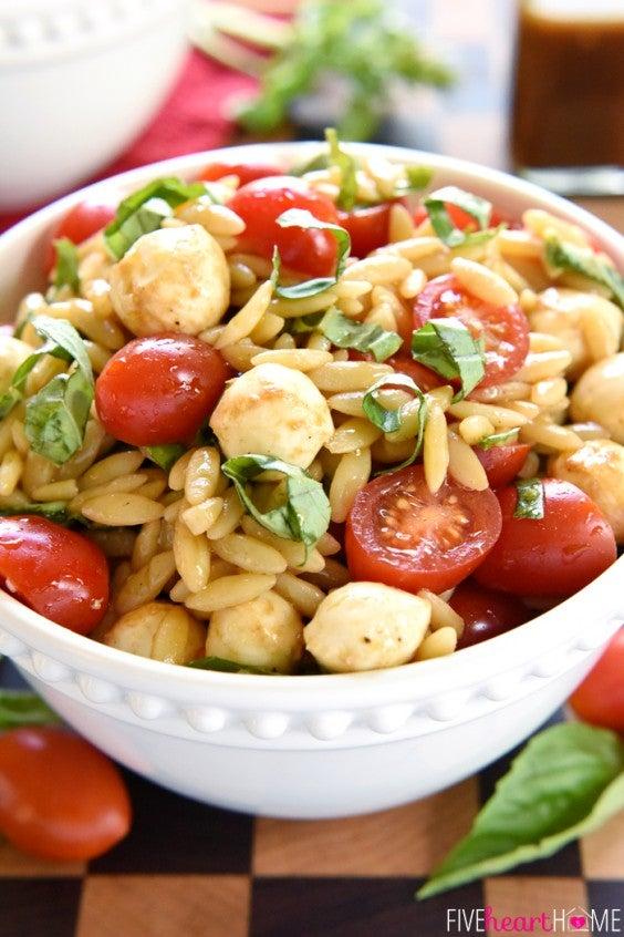 10. Caprese Orzo Salad
