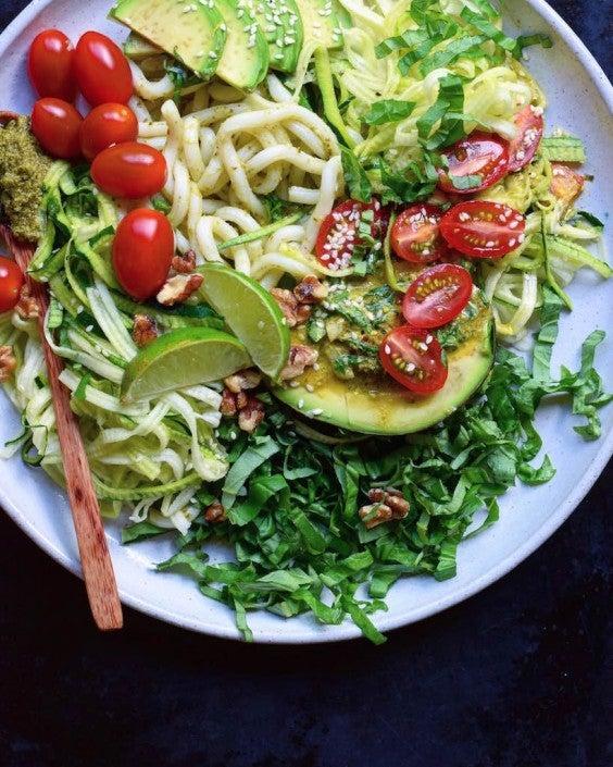 11. Healthy Udon Pesto Salad