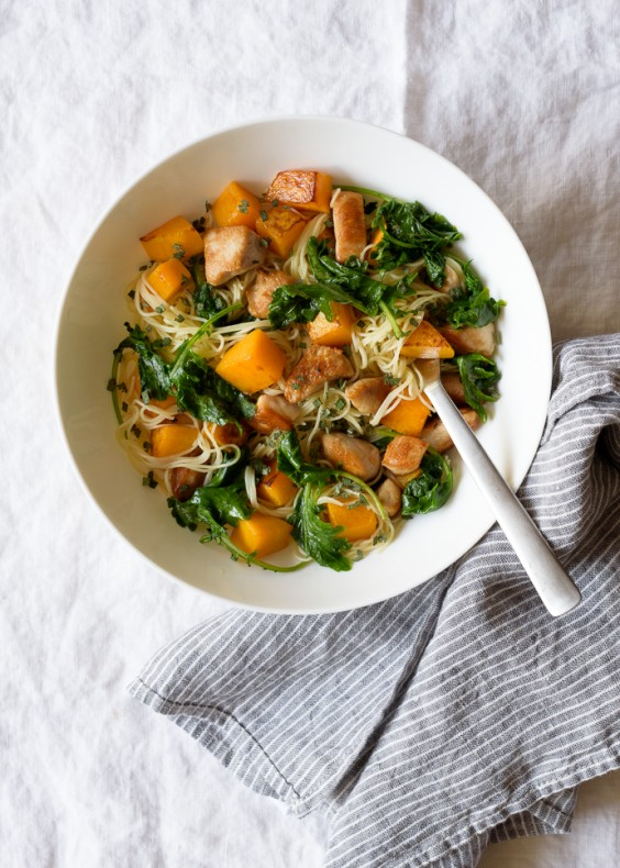 14. Maple Butternut Squash and Chicken Pasta With Kale