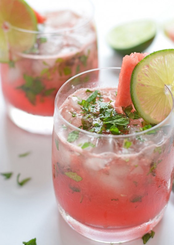 5. Watermelon Mint Wine Cocktail