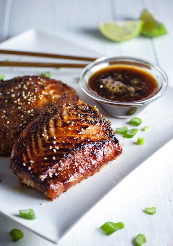 1. Crispy Garlic- and Miso-Glazed Salmon