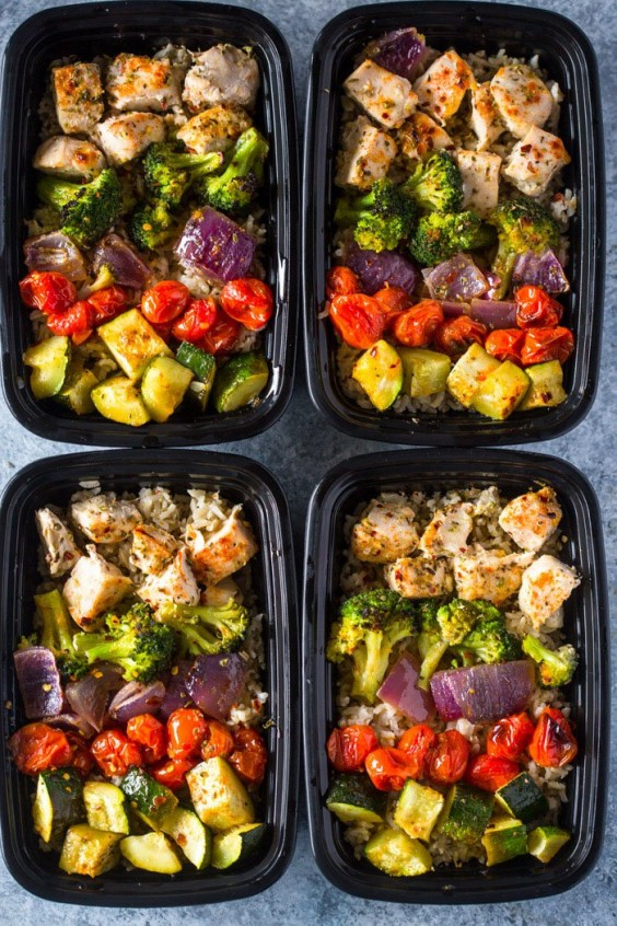 1. Healthy Roasted Chicken and Veggies