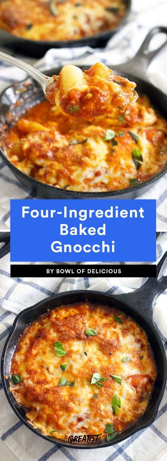 Four-Ingredient Baked Gnocchi Recipe