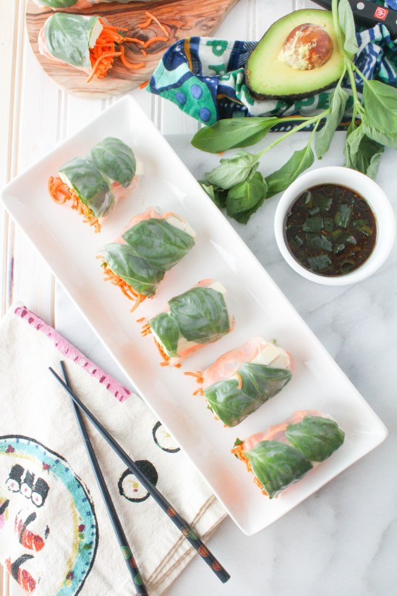 12. Sweet Potato Spring Rolls With Sesame Ginger Dipping Sauce
