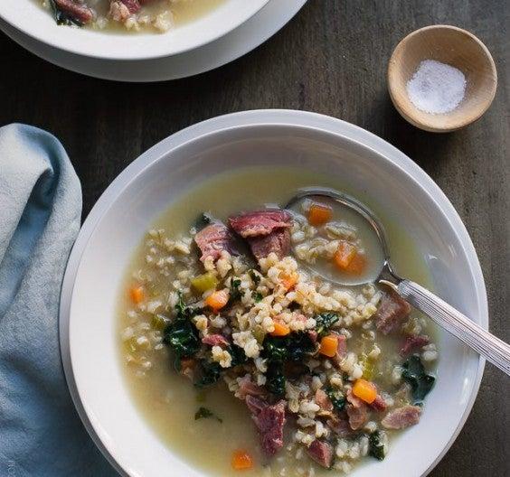 11. Ham, Barley, and Kale Soup