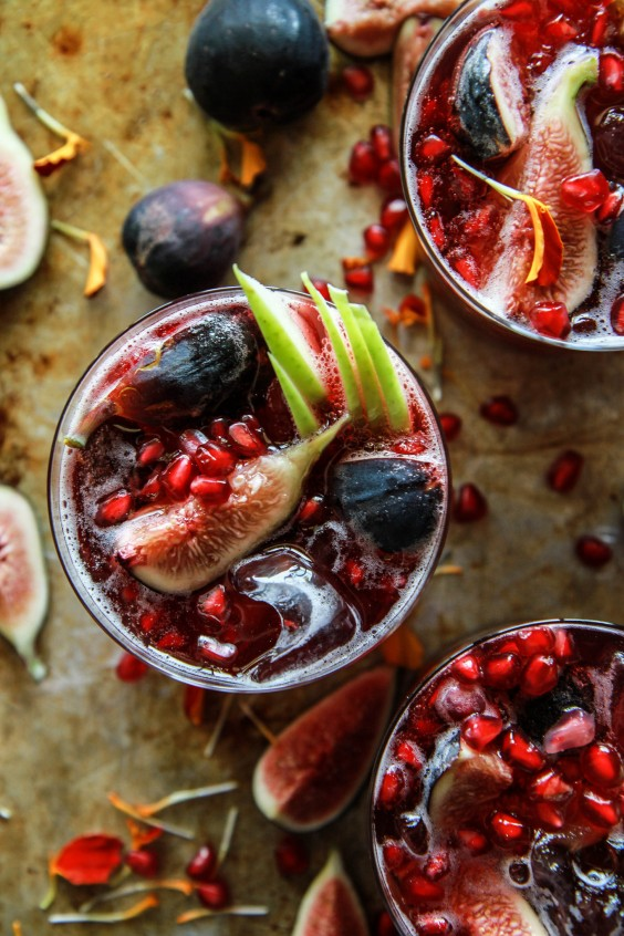 3. Autumn Sangria With Apples, Pomegranates, and Figs