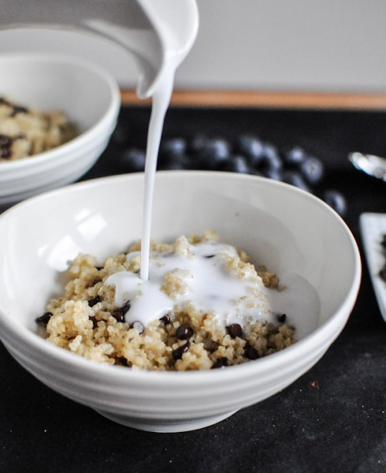 5. Chocolate Chip Blueberry Breakfast Quinoa