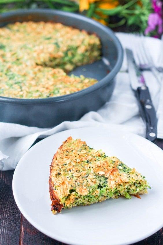12. Broccoli Cheddar Oatmeal Bake