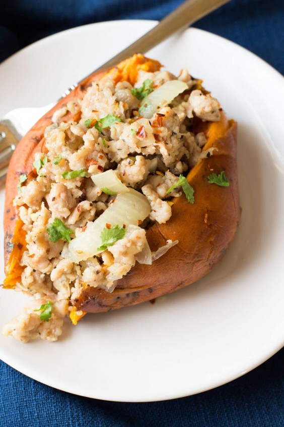 3. Italian Turkey Stuffed Sweet Potatoes