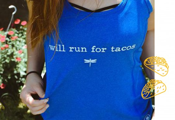 """Will Run for Tacos"" Tank Top"