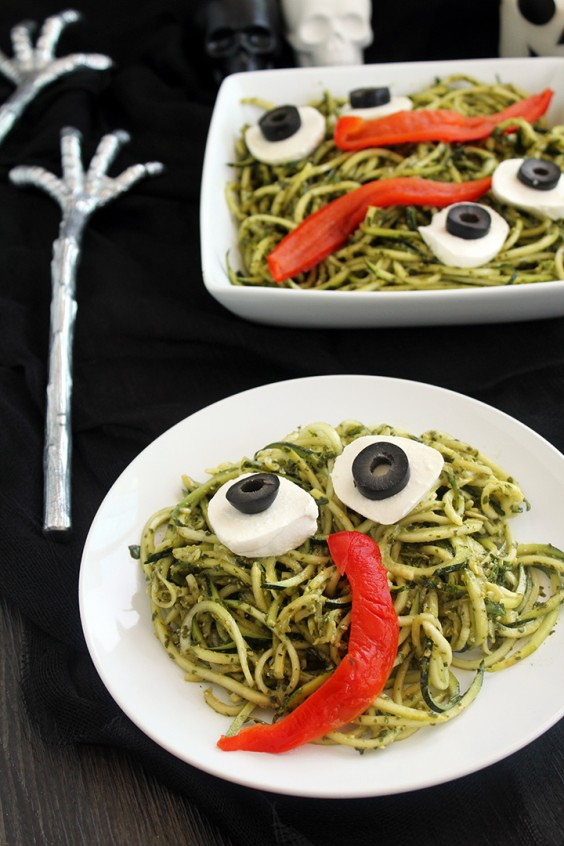 13. Spooky Green Monster Zucchini Noodles