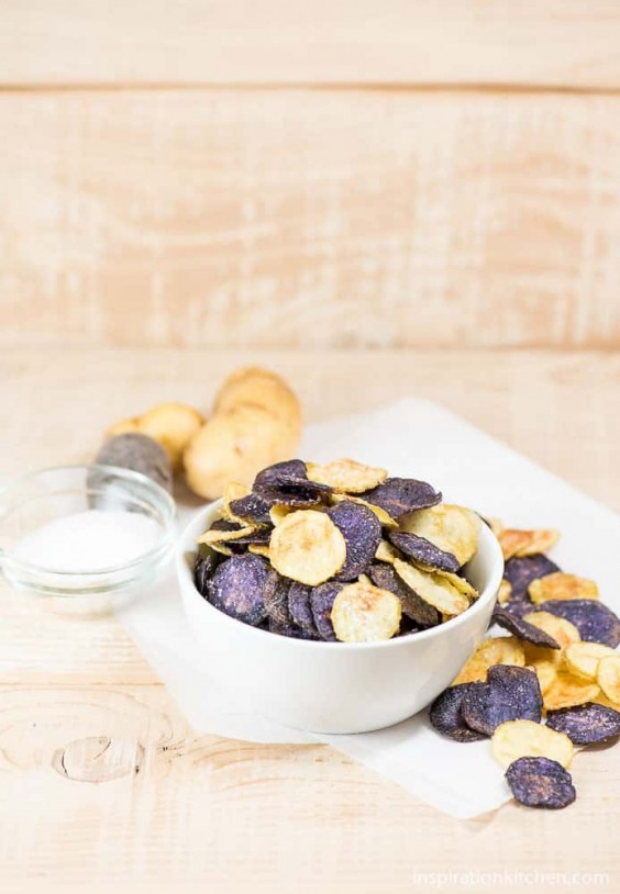 17. Easy Microwave Potato Chips