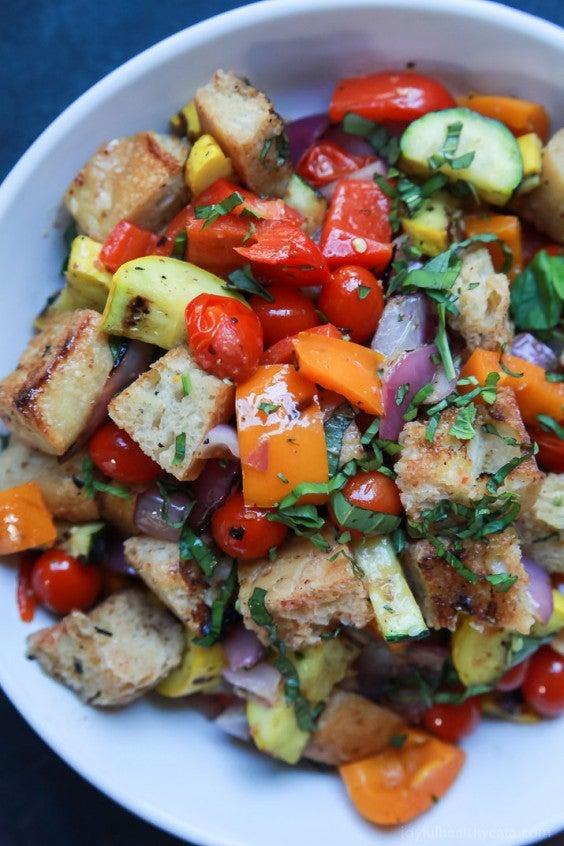 13. Grilled Vegetable Panzanella Salad