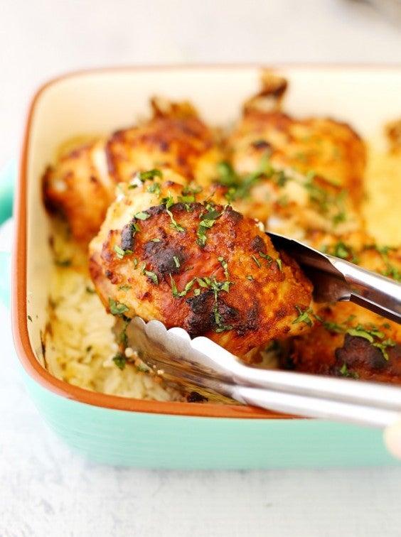 13. One-Tray Hoisin Peanut Chicken and Rice