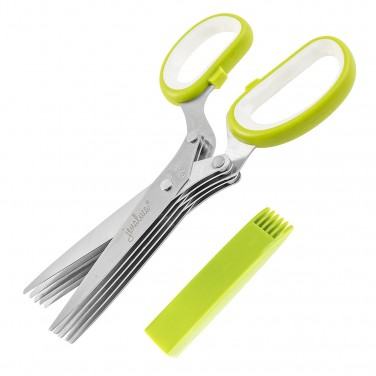 2. Jenaluca Stainless Steel Herb Scissors