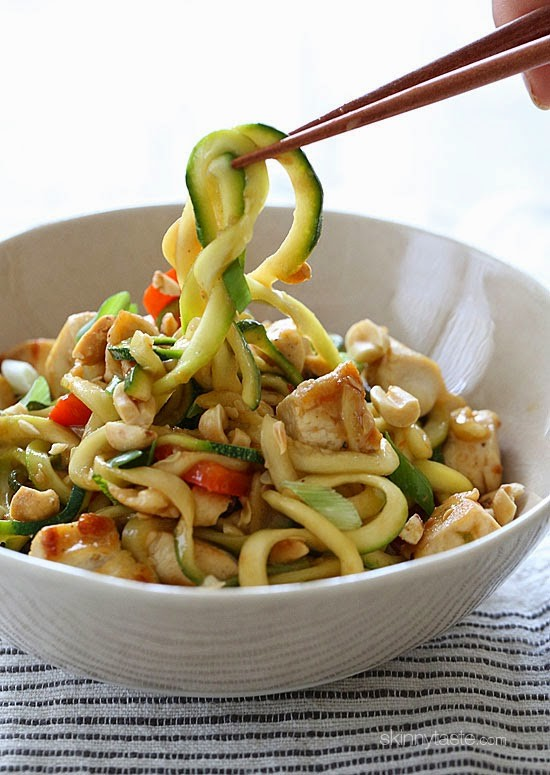 Kung Pao Chicken Zoodles For Two