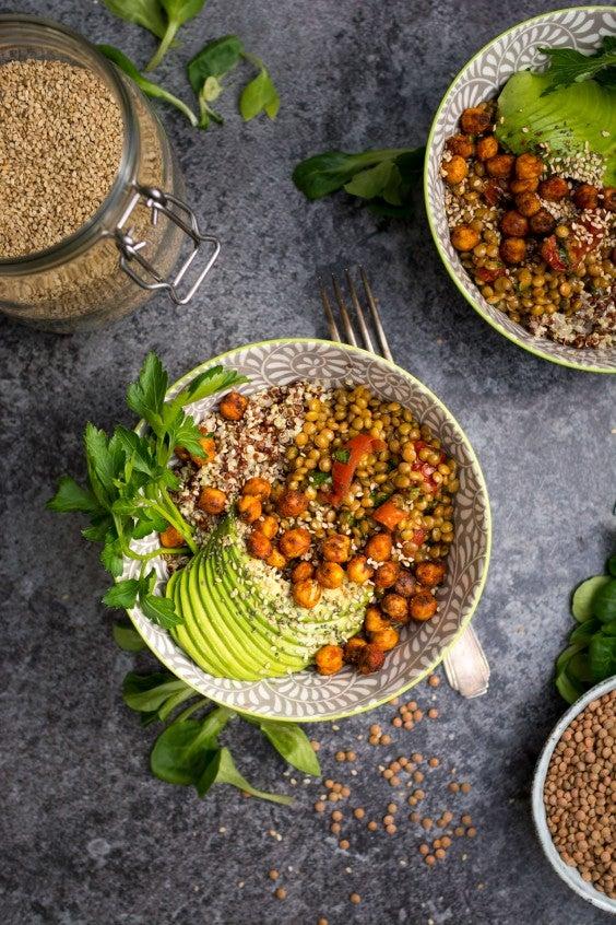 7. Warm Lentil and Tomato Salad