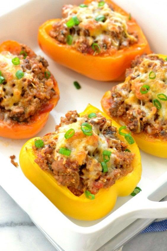 3. Turkey Quinoa Stuffed Bell Peppers