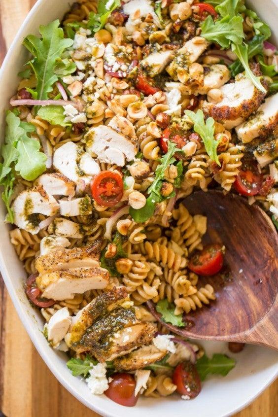11. Whole-Wheat Pasta Salad With Honey Basil Vinaigrette