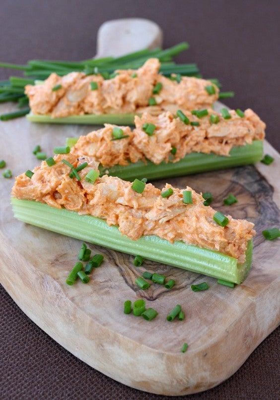 10. Buffalo Chicken Celery Sticks