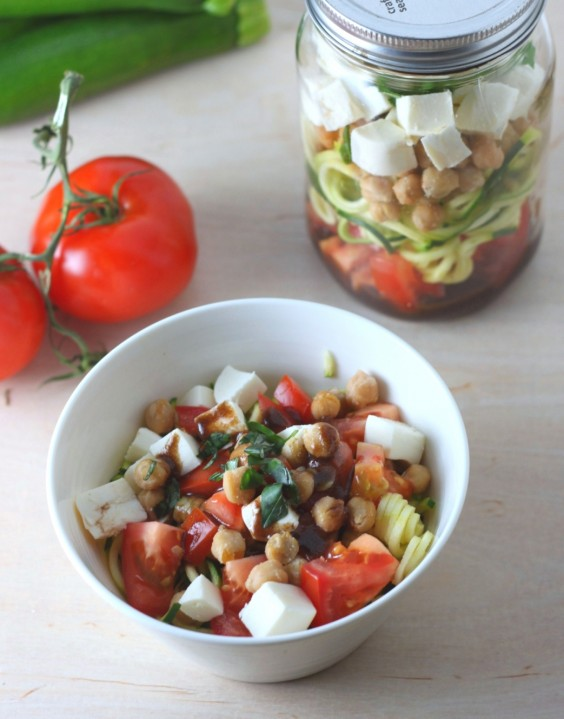 7. Zucchini Noodle Caprese Salad