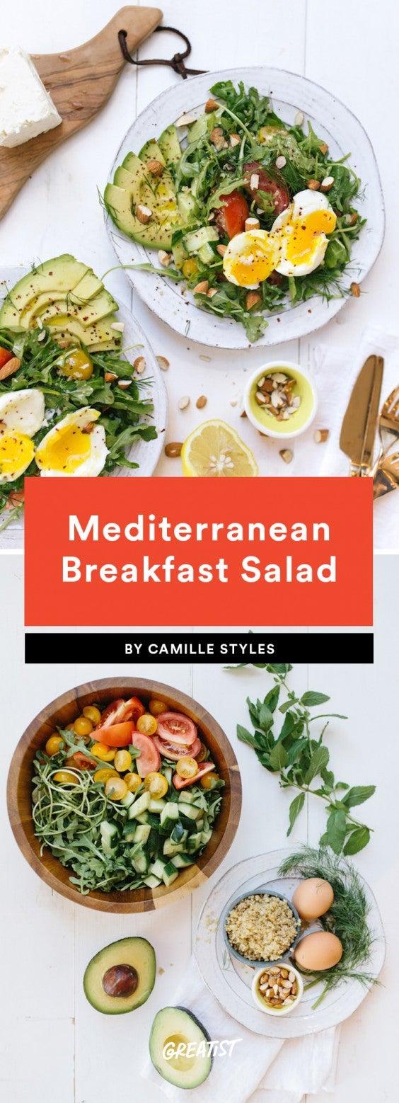 1. Mediterranean Breakfast Salad