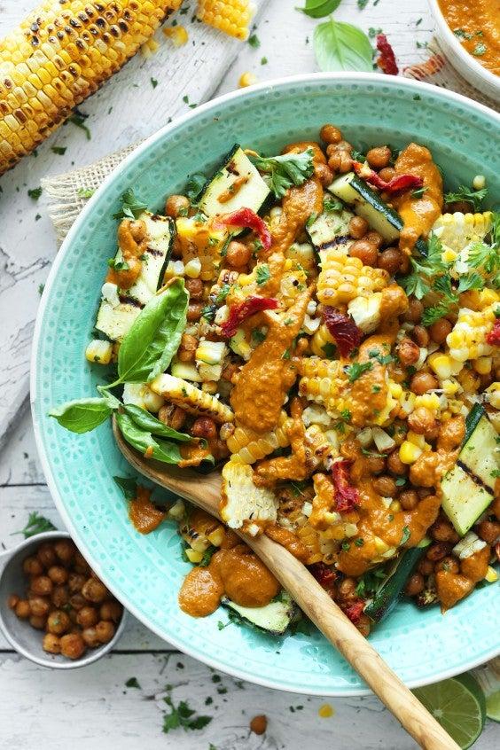 3. Grilled Corn and Zucchini Salad With Sun-Dried Tomato Vinaigrette