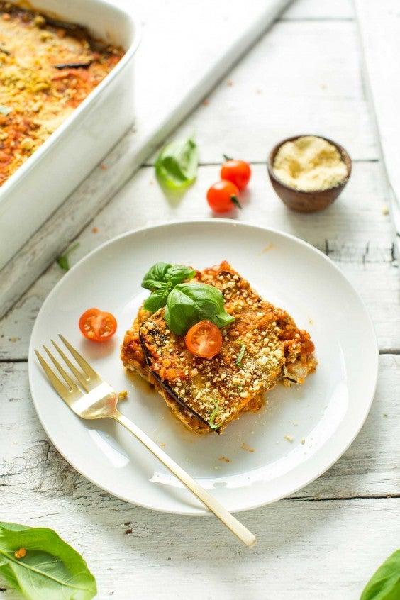 1. Lentil and Eggplant Lasagna