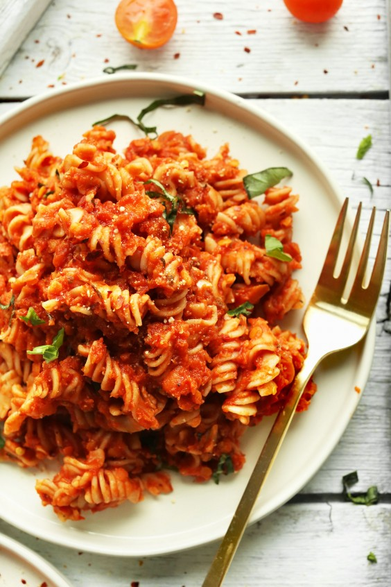 17. Spicy Red Pasta With Lentils