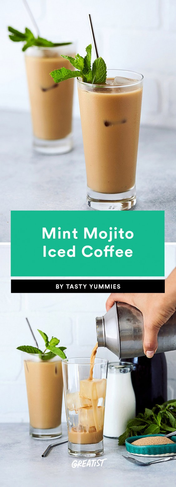 1. Mint Mojito Iced Coffee
