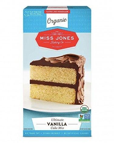 1. Miss Jones Baking Organic Vanilla Cake Mix