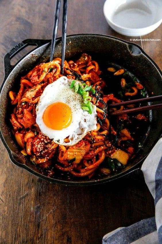 9. Kimchi Udon Noodle Stir-Fry