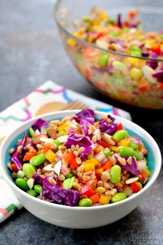 12. Rainbow Farro Salad