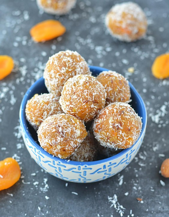 No-Bake Apricot Energy Bites