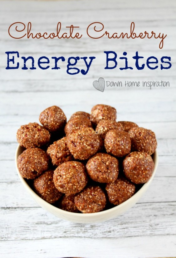 22. No-Bake Chocolate Cranberry Energy Bites